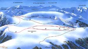 cartina piste Acquacanina - Piani di Ragnolo