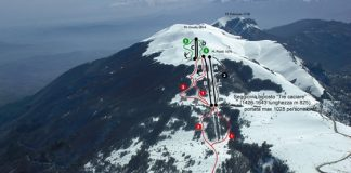 Cartina piste e impianti Monte Piselli