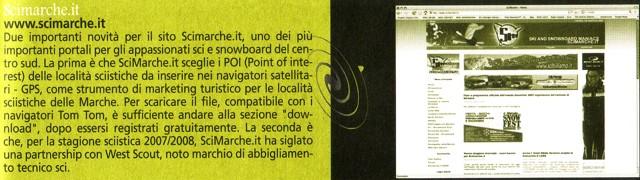 """Scimarche.it sull'agenda planning """"Le Marche on line - Guida alle Marche su Internet che nel 2008 compie 10 anni"""""""