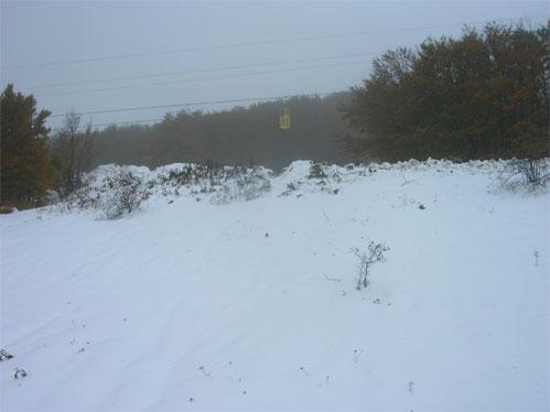 Situazione sugli impianti del Catria (PU) a 1300 metri di quota dopo due giorni dalla nevicata