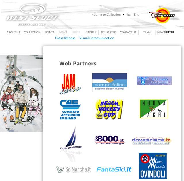 Nuovo successo per il portale umbro - marchigiano SciMarche.it, da oggi entra ufficialmente nella sezione web partners del noto marchio d'abbigliamento West Scout