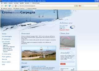 Nuovo sito internet per gli impianti sciistici dell' Eremo di Monte Carpegna