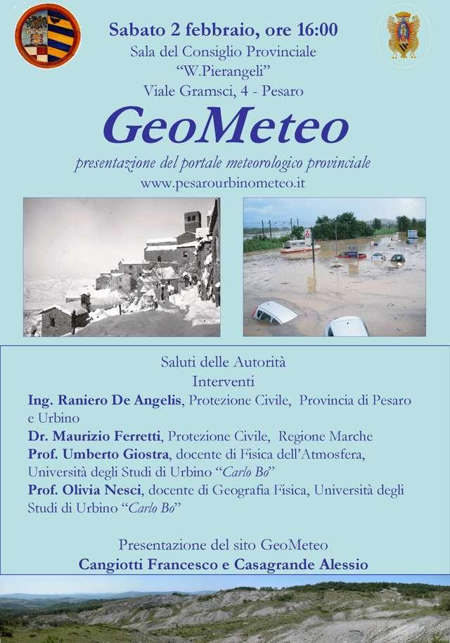 GeoMeteo: sito meteorologico e di raccolta dati della Provincia di Pesaro-Urbino