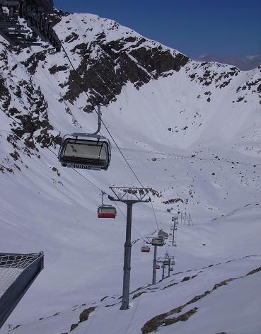 Diavolezza pista del ghiacciaio che va da 2900 a 3066 mt