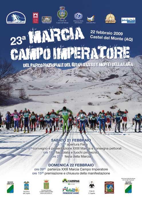 volantino 23a Marcia Campo Imperatore 22 Febbraio 2009