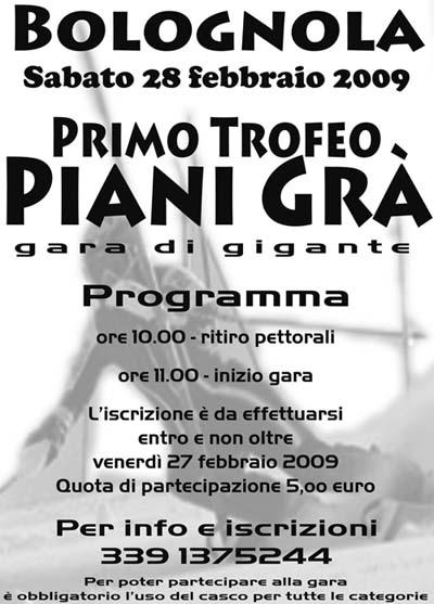 locandina gara gigante bolognola febbraio 2009