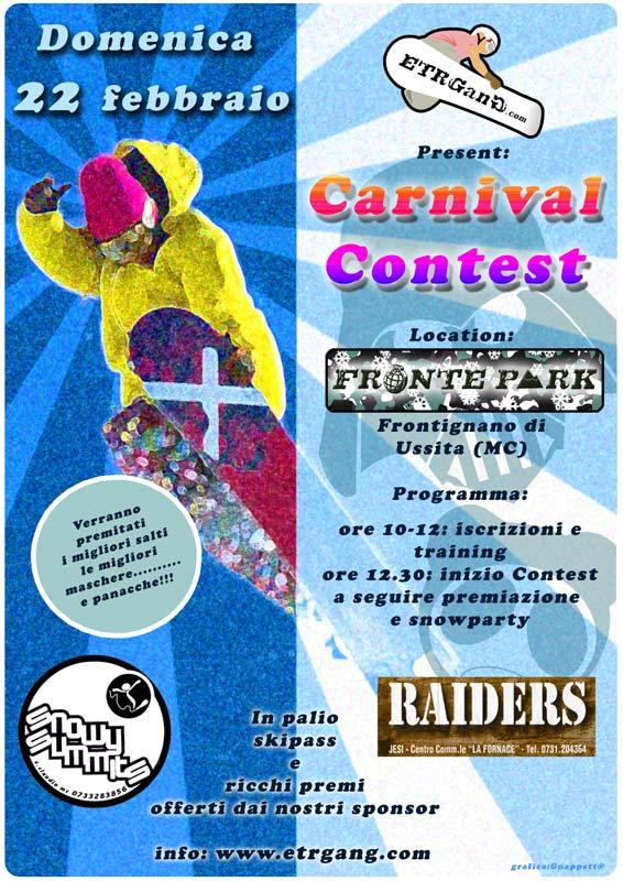 locandina Primo Freestyle Carnival Contest Frontignano di Ussita