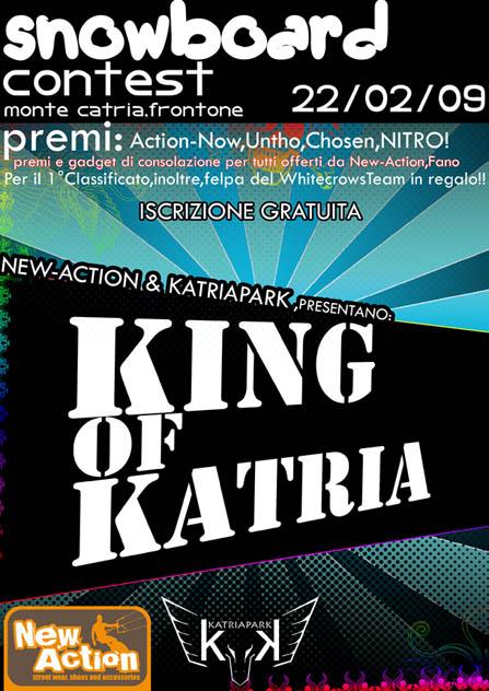 locandina King of Katria contest 2009 Monte Catria Frontone