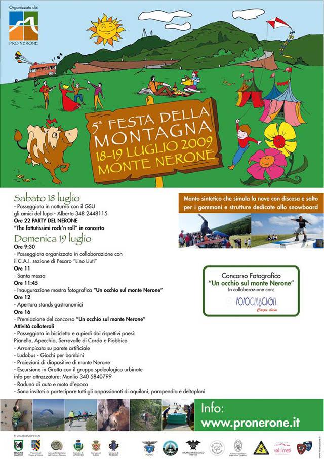 locandina monte nerone festa della montagna 2009