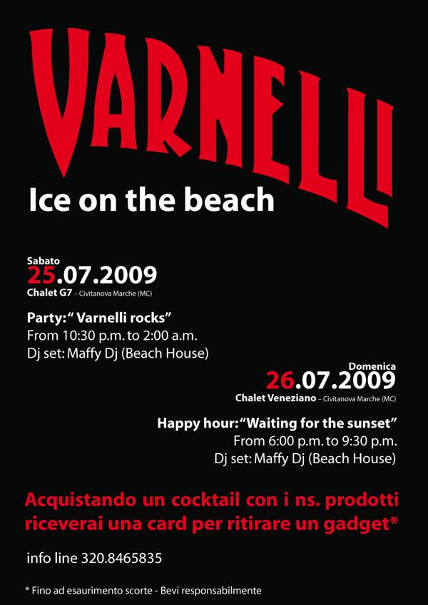 locandina Varnelli Ice on the beach