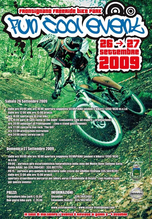 flyer Frontignano freeride bike park Fun Cool Event 26 27 Settembre 2009