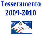 immagine tesseramento FISI 2009 - 2010