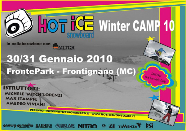 flyer hot ice snowboard winter camp frontignano 2010