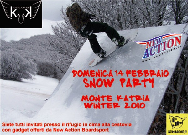 flyer katriapark snow party winter 2010