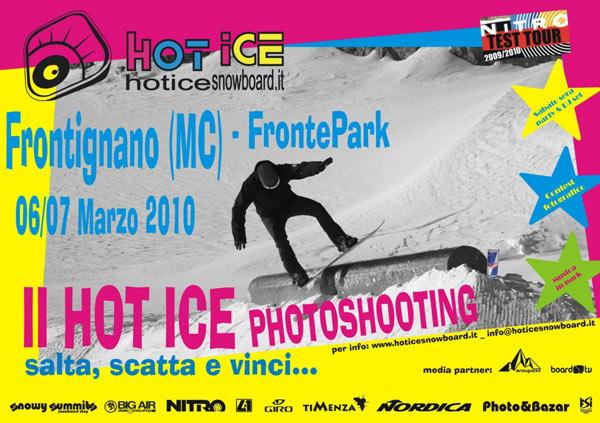 flyer Hot Ice Photoshooting 2010 frontignano snowpark