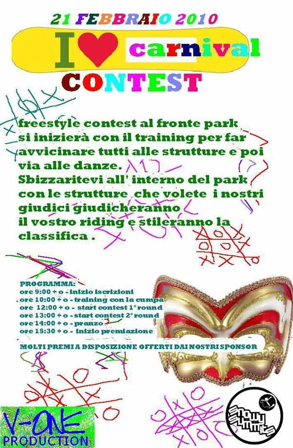 flyer I love Carnival contest 2010