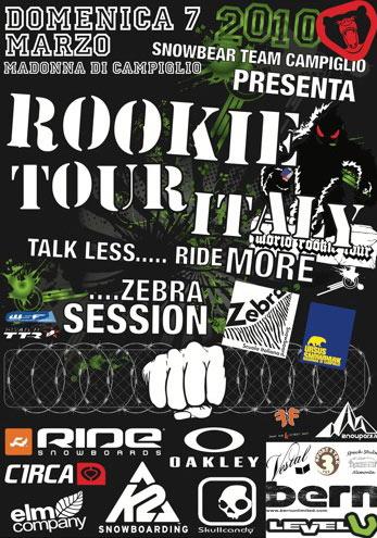 flyer rookie tour madonna di campiglio 2010