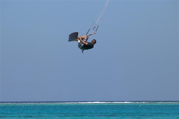 Kite surf in aria