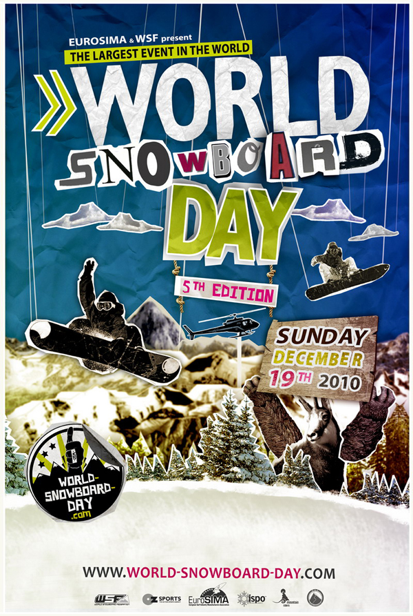 flyer World Snowboard Day 2010
