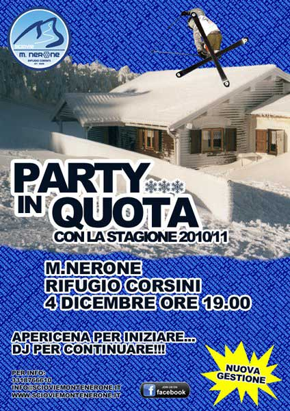 flyer party in quota monte nerone 4 dicembre 2010