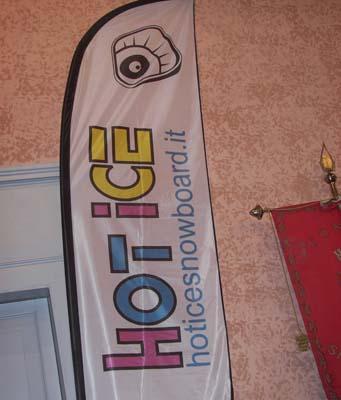 banner hot ice snowboard