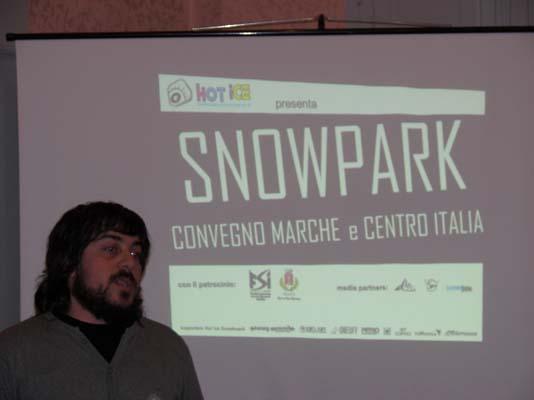 Cristiano Bordi dell'Hot Ice Snowboard