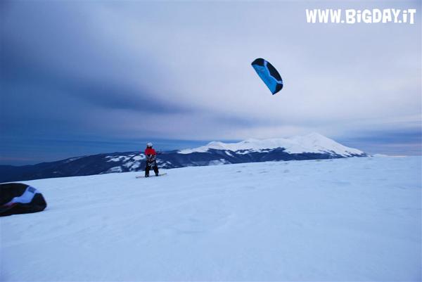 snowkite a Forca di Presta e Castelluccio