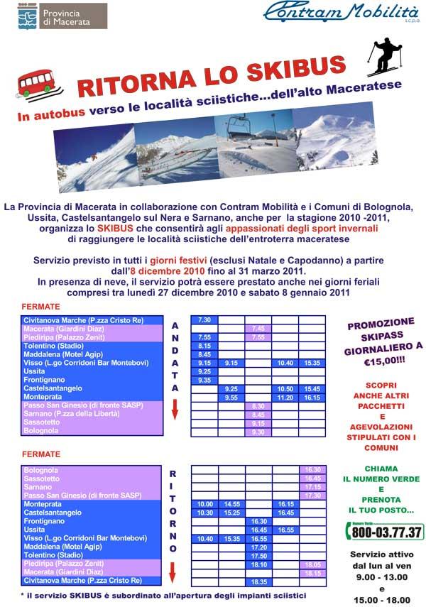 volantino skibus stagione 2010-2011