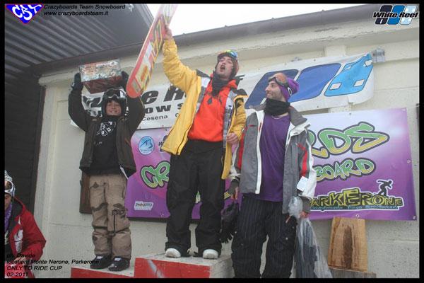 premiazione seconda tappa Contest Only to Ride Cup 2011