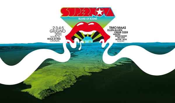 volantino Supernova Festival Novalja Isola di Pag Croazia