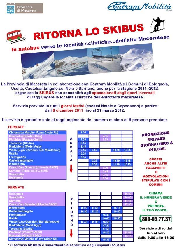 locandina servizio skibus 2011 2012