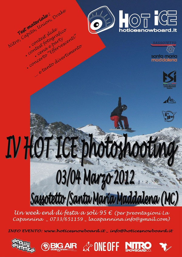 locandina hot ice photoshooting 2012 sarnano