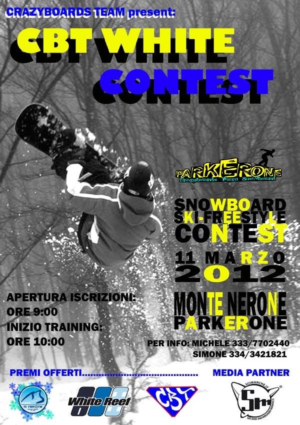 locandina CBT White Contest 2012 monte nerone