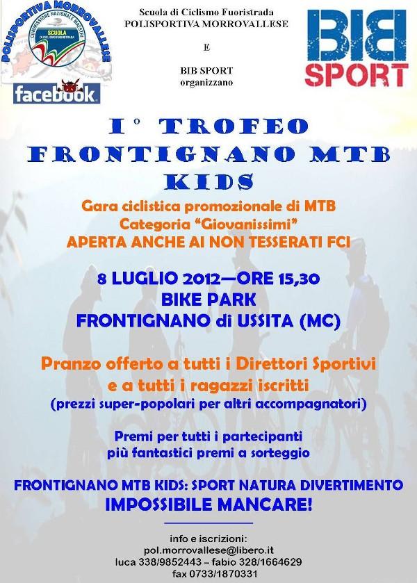 immagine locandina primo trofeo Frontignano MTB Kids