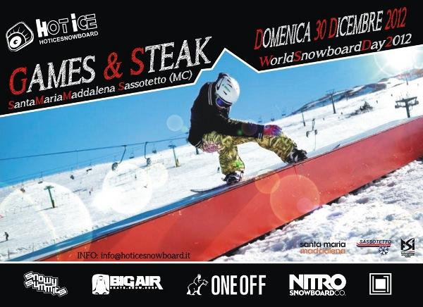 locandina games e steak sarnano 30 dicembre 2012