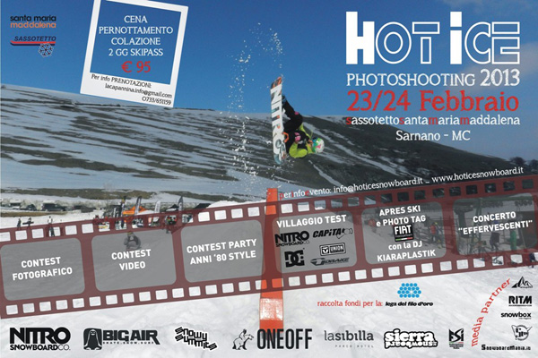 locandina hot ice photoshooting 2013 sarnano mc