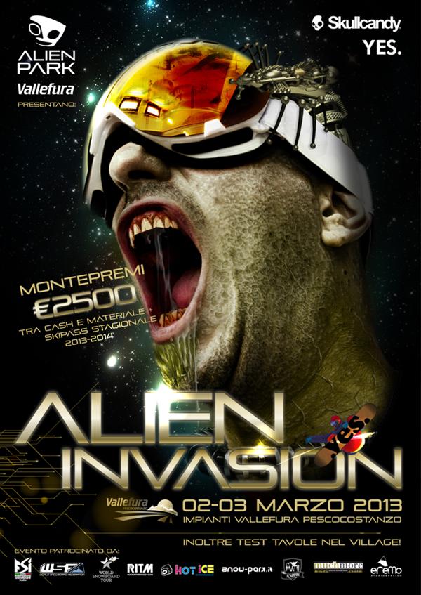 flyer alien invasion alien park pescocostanzo aq 2013