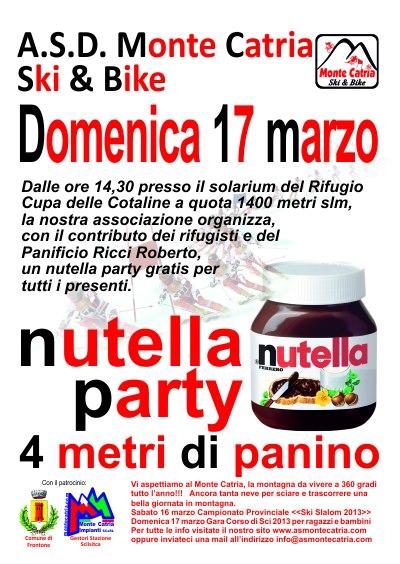 locandina nutella party monte catria pu 2013