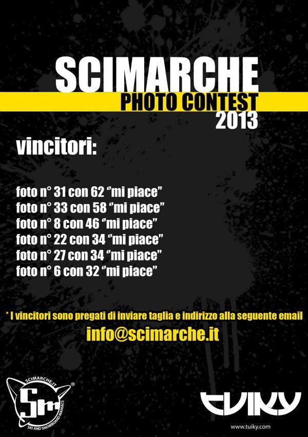 locandina vincitori SciMarche Photo Contest 2013