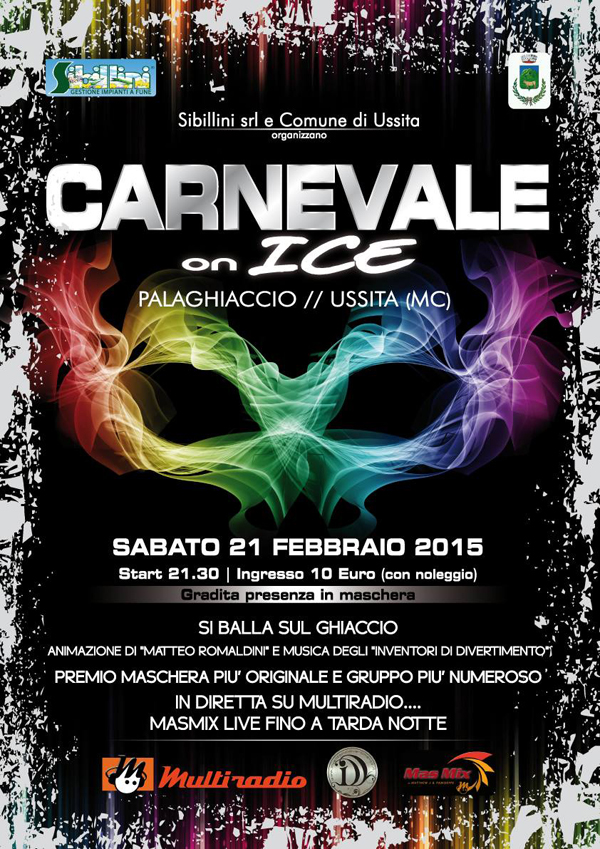 locandina carnevale on ice 2015 palaghiaccio di ussita