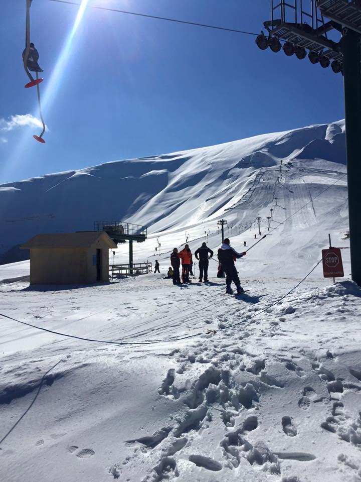 Località invernale Pintura di Bolognola partenza skilift