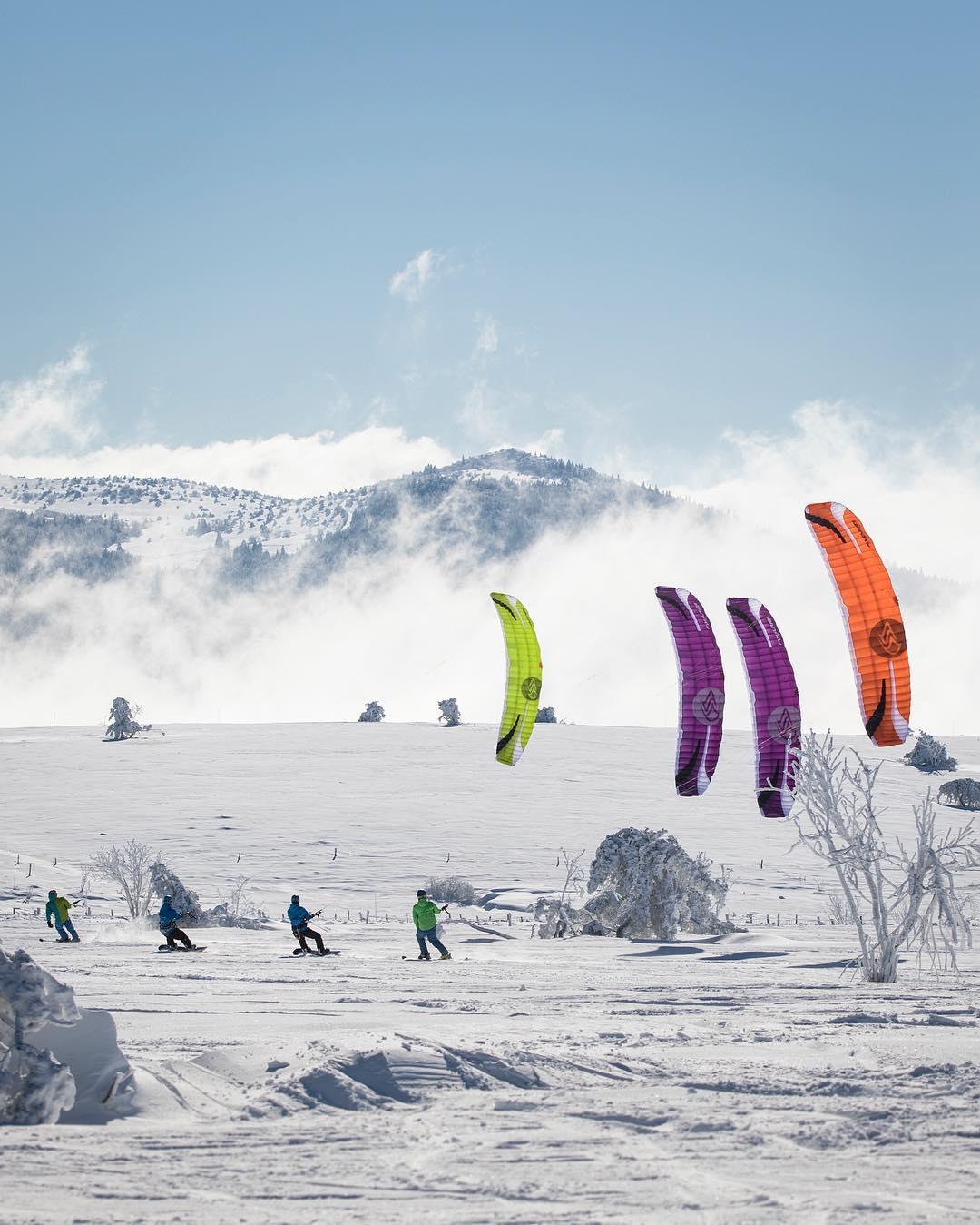 La storia dello snowkite - Credits: flysurferkiteboarding