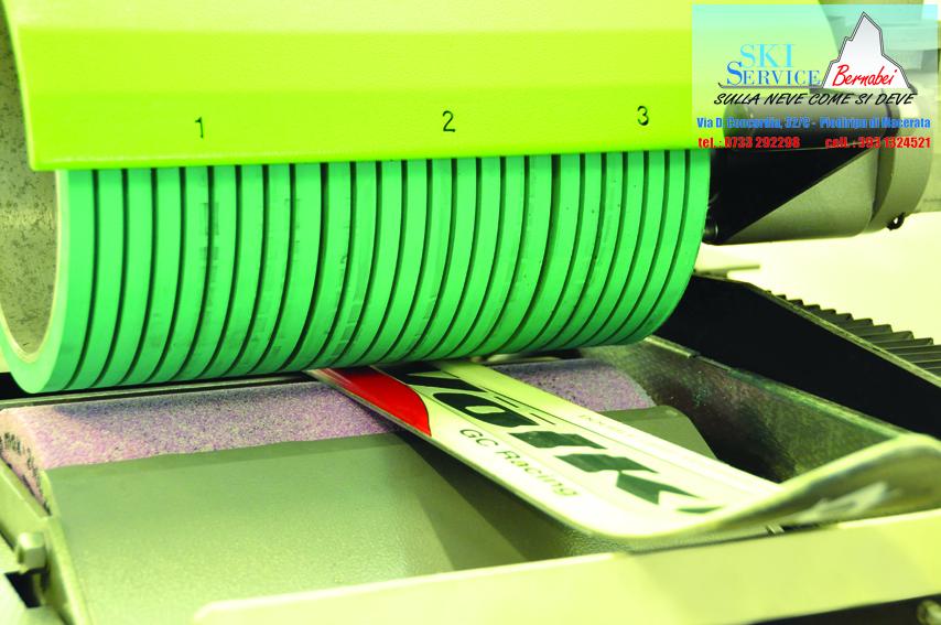 Rettifica lamine di sci e snowboard con ceramic disc finish