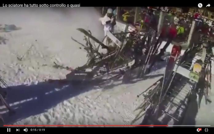 Lo sciatore ha tutto sotto controllo o quasi