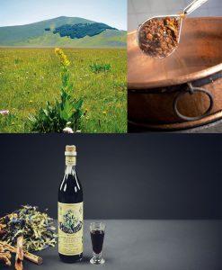 L'Amaro Sibilla è ottenuto da un decotto su fuoco a legna di genziana ed altre piante officinali.