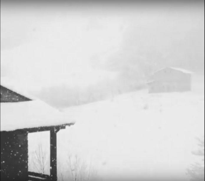 Il video della bufera di neve