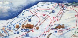 Cartina delle piste e impianti della stazione sciistica Eremo Monte Carpegna