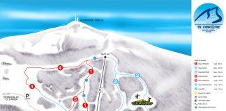 La cartina piste e impianti stazione sciistica Monte Nerone