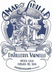 L'etichetta dell'Amaro Sibilla realizzata da Adolfo De Carolis
