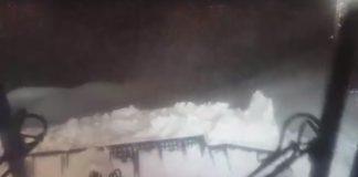 Il gatto delle nevi all'opera nella stazione sciistica di Sarnano - credits Mario Nannerini